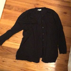 Black 3/4 length cardigan